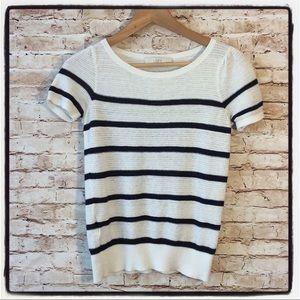 The Loft Lightweight Striped Sweater Top Petite S